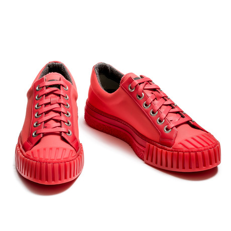 Cedrick Low Lace Up Sneakers // Red (Euro: 39)