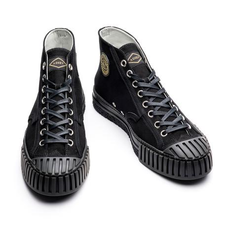 Porfirio High Lace Up Sneakers // Black (Euro: 39)