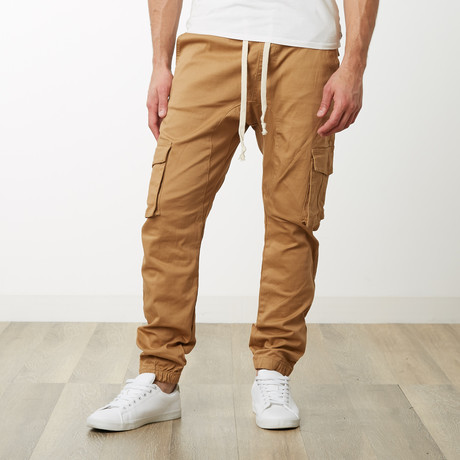 Cargo Twill Joggers // Wheat (S)