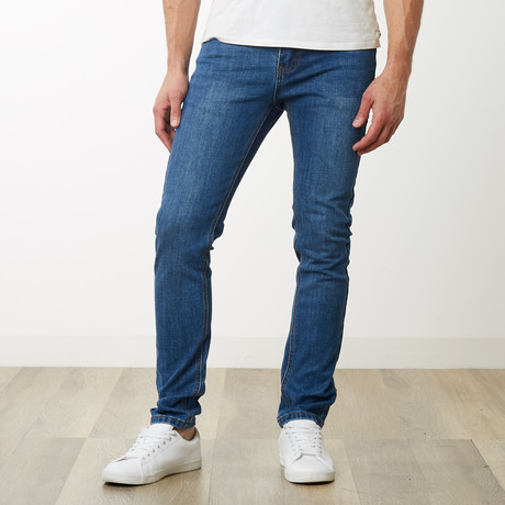 Victor Skinny Jeans // Classic Blue (30WX32L)