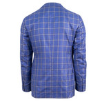 Pal Zileri Sartoriale Blue Label // Cashmere 2 Button Sport Coat // Blue + Free Kiton Pocket Square (Euro: 46)
