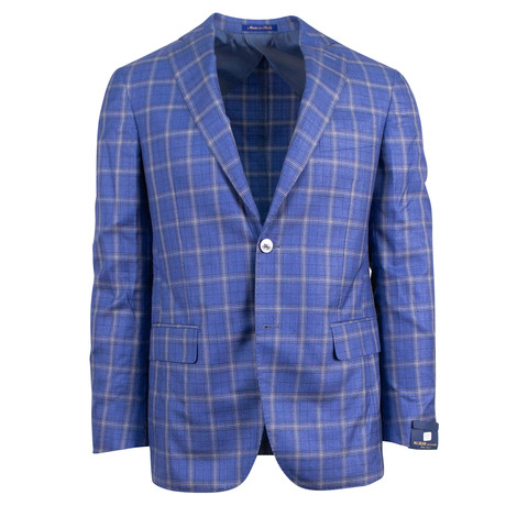 Pal Zileri Sartoriale Blue Label // Cashmere 2 Button Sport Coat // Blue + Free Kiton Pocket Square (Euro: 46)