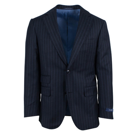 Pal Zileri // Striped Wool Blend 2 Button Suit // Navy Blue (Euro: 46)