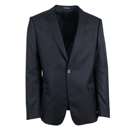 Pal Zileri Cerimonia // Wool Blend One Button Tuxedo // Black (Euro: 46)
