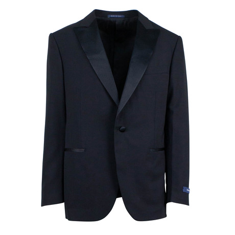 Pal Zileri // Wool One Button Satin Tuxedo // Black (Euro: 46)