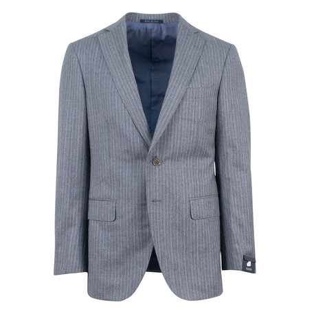 Pal Zileri // Striped Wool 2 Button Suit // Gray (Euro: 46)