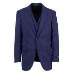Pal Zileri // Wool 2 Button 3 Piece Suit // Navy Blue (Euro: 50)