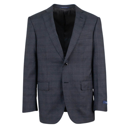 Pal Zileri // Check Wool 2 Button Suit // Gray (Euro: 46)