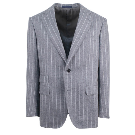 Pal Zileri // Striped Wool Pick 2 Button Suit // Gray (Euro: 46)