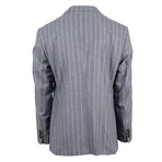 Pal Zileri // Striped Wool Pick 2 Button Suit // Gray (Euro: 54)