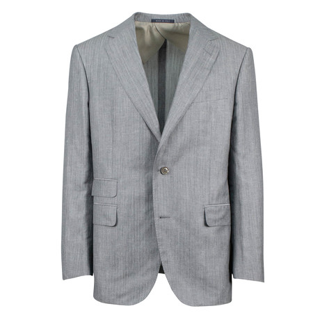 Pal Zileri // Solid Wool Blend 2 Button Suit // Gray (Euro: 46)