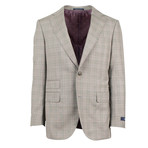 Pal Zileri // Plaid 2 Button Suit // Gray (Euro: 50)
