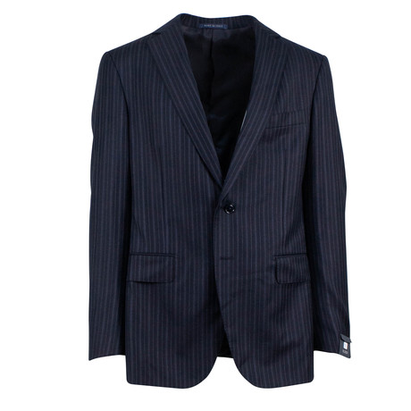 Pal Zileri // Wool Pick Stitch 2 Button Suit // Navy Blue (Euro: 46)