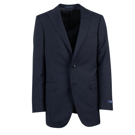 Pal Zileri // Wool Peak 2 Button Suit // Navy Blue (Euro: 46)