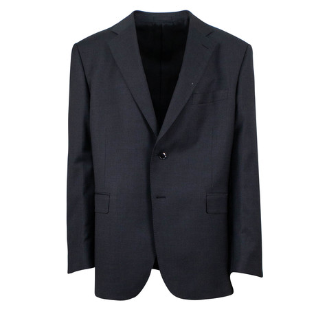 Pal Zileri Sartoriale // Wool 2 Button Suit // Black (Euro: 46)
