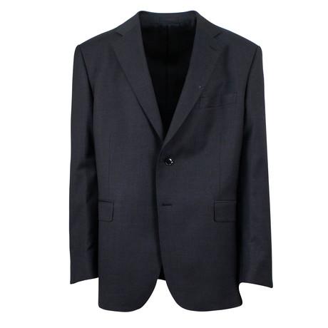 Pal Zileri Sartoriale // Wool 2 Button Suit // Black (Euro: 46)