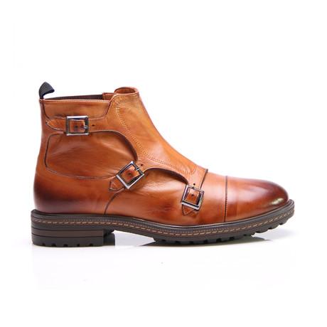 Kory Triple Monk Boot // Tobacco Antique (Euro: 40)