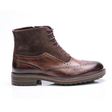 Drew Wing Cap Boot // Brown Antique (Euro: 40)