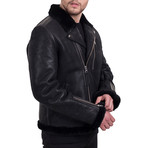 Multi Zipper Jacket // Black (M)