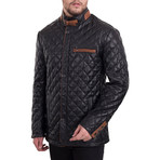 Quilted Zipper Jacket // Black (L)