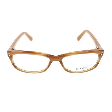 V2649-205 Frames // Valentino // Striped Brown Khaki