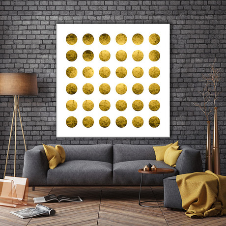 """Golden Spots White (54""""W x 54""""H x 1.25""""D)"""