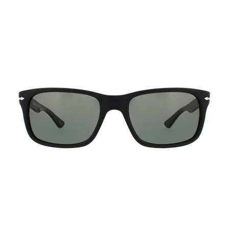 Persol Polarized Squared Sunglasses // Black