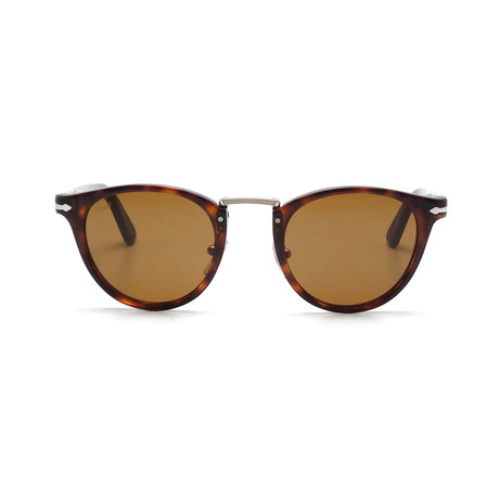Persol Acetate + Metal Sunglasses // Havana + Brown Polarized