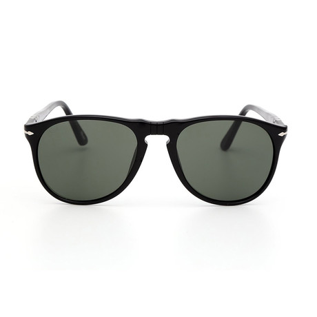 Persol Men's Iconic Sunglasses // Black + Gray (55mm)