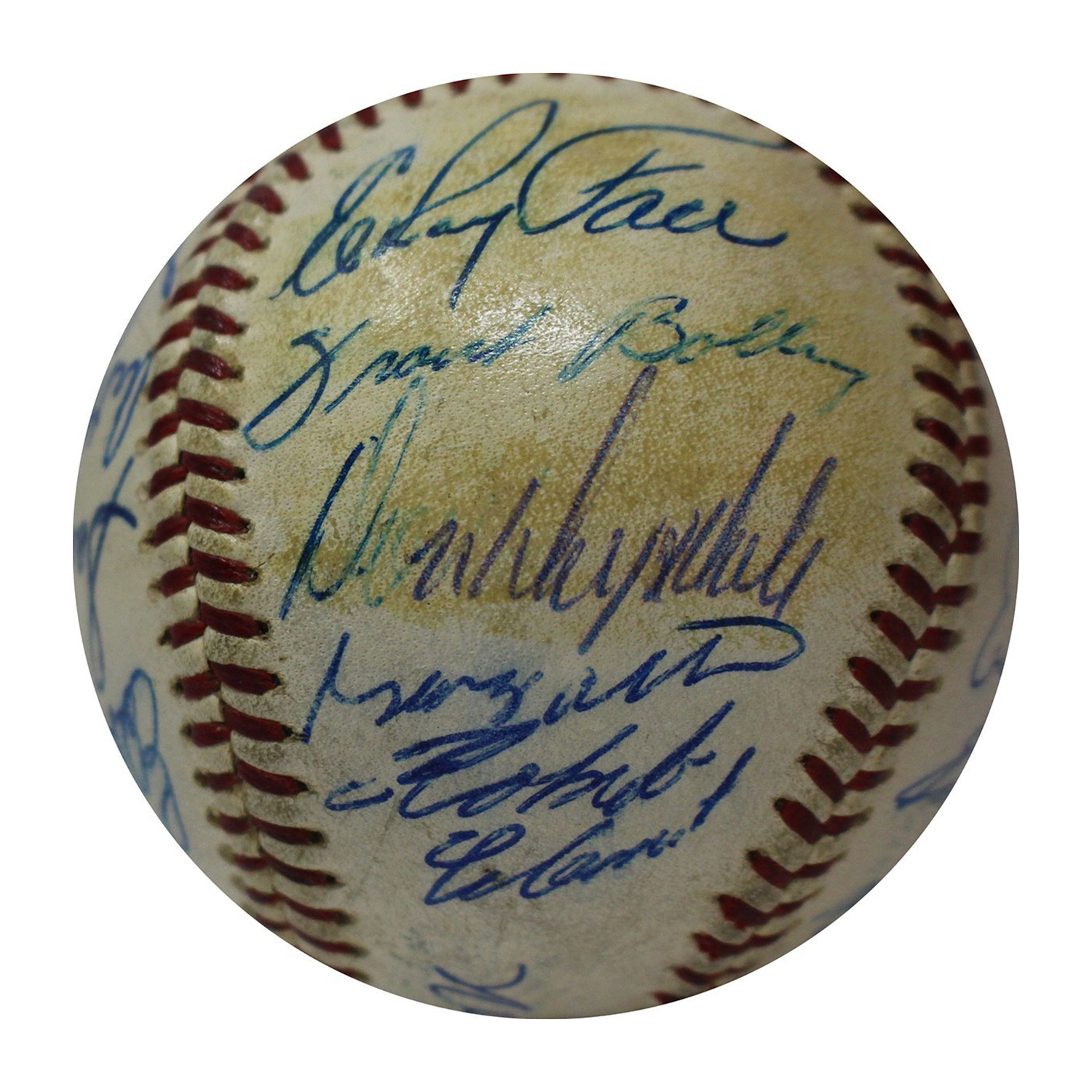 ddbe203a 1961 National League All Star Team Signed Baseball - Steiner Sports ...