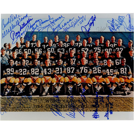 1966 Green Bay Packers Team Signed Photo