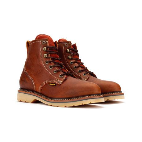Plain Toe Work Boots // Light Brown (US: 5)