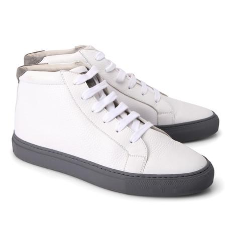 Charles Hi Top Fashion Sneaker // White (Euro: 39)