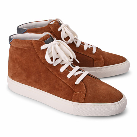 Edwin Hi Top Fashion Sneaker // Brown (Euro: 39)