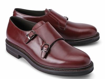 Photo of Brunello Cucinelli Exemplary Designer Footwear Emanuel Monk Buckle Shoe // Burgundy (Euro: 42) by Touch Of Modern