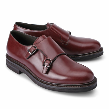 Emanuel Monk Buckle Shoe // Burgundy (Euro: 39)