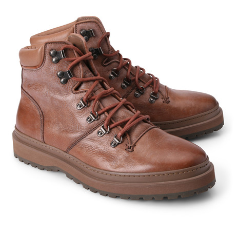 Edward Leather Combat Boot // Brown (Euro: 39)