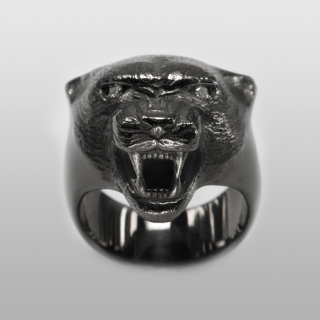 Black Panther // Sterling Silver // Black Ruthenium Finish (Size 8)