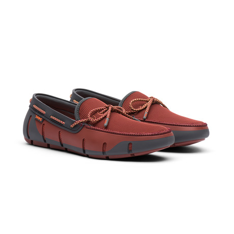 Stride Lace Loafer // Red Laquer + Dark Gray (US: 7)