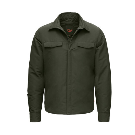 Motion Shirt Jacket // Forest Green (XS)