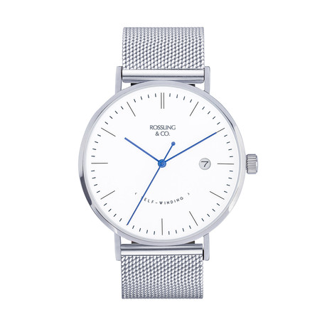 Rossling & Co. Classic Silver Mesh Automatic // RO-002-006