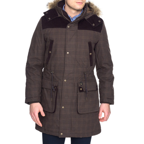 Schultz Hooded Parka W/ Water Resistant Coating // Dark Khaki (XS)