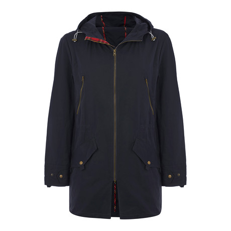 Buckley Hooded Spring Parka // Navy (XS)