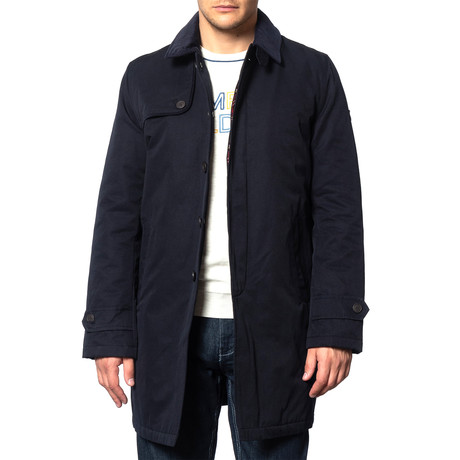 Lidgard Mac Coat // Navy (XS)