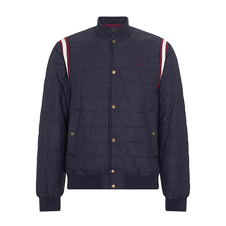 Hyde Padded Bomber Jacket // Dark Navy (XS)