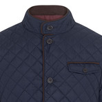 Seville Quilted Blazer // Dark Navy (XL)