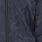 Consett Camo MA1 Bomber Jacket // Dark Navy (L)
