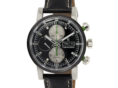 Compelling Timepieces Precision Meets Sophistication Chronoswiss Pacific Chronograph Automatic // CH 7583B-BK // Unworn by Touch Of Modern - Denver Outlet