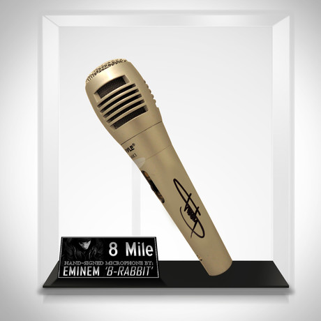 8 Mile // Eminem Signed Microphone // Museum Display (Signed Mic Only)