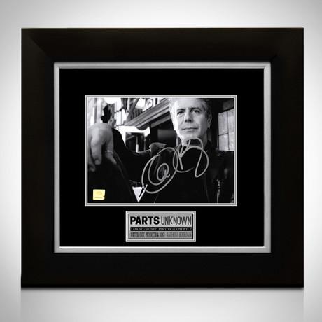 Anthony Bourdain // Signed Photo // Custom Frame